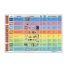 Drug Identification Chart Amazon Com Drug Awareness Guide Chart Health Personal Care