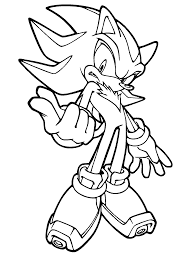 Coloring Pages Super Sonic Hedgehog Coloring Pages To Print