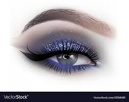 fashion woman eye makeup vector image
