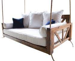 avery wood porch swing bed beach