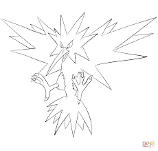 Small Picture Zapdos coloring page Free Printable Coloring Pages