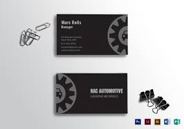 Card Design Template Automotive Business Card Template
