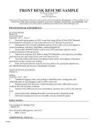 Hotel Front Desk Resume Samples Sample Hotel Desk Clerk Resume Front Desk Clerk Resume Examples