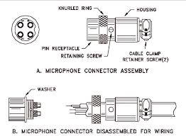 mic wiring micraphone connector assembly