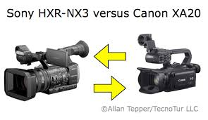Canon Camcorder Comparison Chart Sony New Nx3 Camcorder Compared With The Canon Xa20 By Allan
