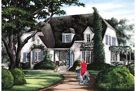 ePlans English Cottage House Plan   R tic English Cottage    Front
