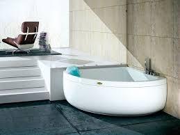 corner whirlpool bathtub with chromotherapy aquasoul corner 140 bathtub by jacuzzi
