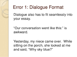 narrative essay dialogue example com  narrative essay dialogue example 13 3