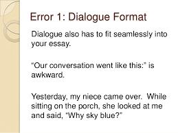narrative essay dialogue example com  narrative essay dialogue example 13 3