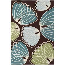 chandra inhabit brown green blue white 5 ft x 8 ft indoor area rug inh21607 576 the home depot