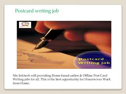 get the postcard writing job in nts infotech 6 postcard writing job nts infotech will providing home based