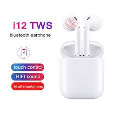 Anbide tai nghe bluetooth không dây mini i12 chính hãng, tai nghe nhét tai  âm thanh nổi cảm ứng thông minh có hộp sạc dành cho iphone android huawei  xiaomi samsung oppo