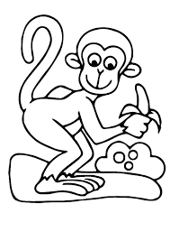 Monkeys Coloring Pages Monkeys A Cute Baby Monkey Sitting Coloring