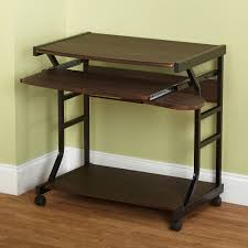 Office table with wheels Industrial Berkeley Desk Multiple Colors Childbearingyearresourcesinfo Computer Tables On Wheels Home Design Ideas