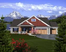 craftsman ranch house plan 97320 elevation