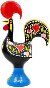 """Amazon.com: Traditional Portuguese Aluminum Rooster Galo de Barcelos (10""""  Tall, Black): Kitchen & Dining"""