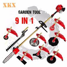 high quality 52cc 9 in 1 petrol hedge trimmer chainsaw strimmer brush cutter extender garden tool