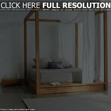 Wooden Canopy Beds Frame For Queen Bed Stunning With Bedroom Wood ...