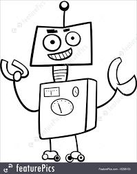 robot cartoon character coloring book royalty free stock ilration