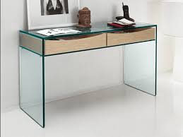 Glass Sofa Table Best Of Tonelli Gulliver Clear Glass Desk Console Table Glass  Desks