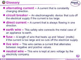 alternating current examples appliances. boardworks ltd 2005 35 of 40 glossary alternating current \u2013 a that is constantly examples appliances