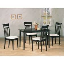 coaster andrews 5 piece upholstered chair dining set in cappuccino brown