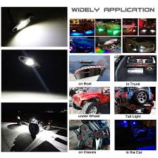 Security Lights For Cars 8 Pod Rgb Led Rock Lights Kits With Bluetooth Control