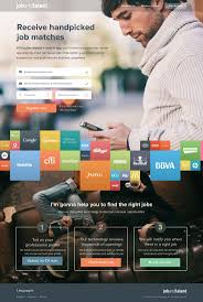 17 best ideas about job portal website layout food marketing landing page