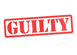 Image result for pleads guilty words