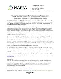 Release Of Interest Form Custom Napfa New Member Press Release