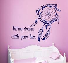 Dream Catchers With Quotes Dream Catcher Wall Decal Quote Let My Dream Catch Your Love 26