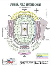 Lambeau Field Seating Chart Lambeau Field Seating Chart Event Usa