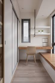 compact office design. Narrow Desk Alcove By Closet Wall. Compact Office Design P
