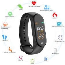 <b>M4 Smart Band</b> Fitness Tracker Watch Sport Bracelet Heart Rate ...