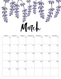 Month Of March Calendar 2020 Free Printable Calendar 2020 Floral Paper Trail Design