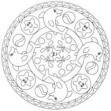 Mandala Coloring Pages For Kids Simple