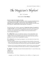 excerpt from the magician s nephew study guide  mn 1