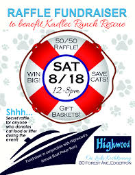 Raffle Event Raffle Event At Highwood Clubhouse To Benefit Kadlec Ranch Rescue