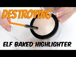 the makeup breakup can you re press a baked destroying e l f baked highlighter