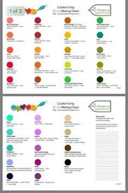 The Cookie Companion Color Charts 75 Best Icing Color Chart Images In 2019 Icing Color Chart