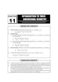 Cbse Class 12 Maths Chapter 11 Three Dimensional Geometry