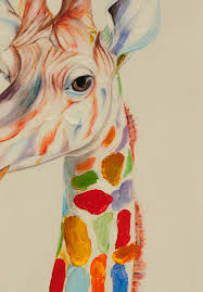 hot cartoon giraffe oil painting hand painted on canvas hanging art pictures for wall decor no frame in painting calligraphy from home garden on