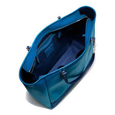 Lyst - Coach Large City Tote in Saffiano Colorblock Leather in Blue