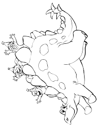 Small Picture Dinosaur Coloring Page 2 Kids Riding On Stegosaurus