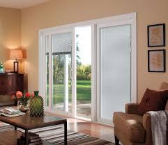 pella 350 series sliding patio door pella com vinyl triple pane glass rolscreen retractable screen door option blinds between the glass