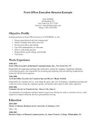 Executive Receptionist Sample Resume resume Sample Of Receptionist Resume 1