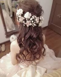 カラードレスに似合うお色直し用花嫁ヘアカタログ Marryマリー