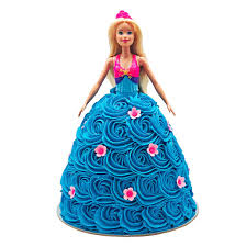Barbie Blue Flower Dress Doll Cake The Cupcake Queens