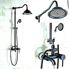 bronze dheld shower head delta heads home complete brushed handheld oil rubbed set