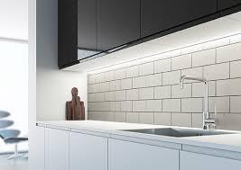 led kitchen lighting. perfect kitchen sensiou0027sarrowslimprofileslsledstriplight in led kitchen lighting